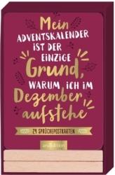 24 witzige Sprüche-Postkarten mit Holzständer