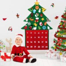 Filz Weihnachtsbaum Adventskalender zum Befüllen
