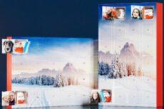 Fototürchen-Adventskalender mit Schokoladen von kinder®