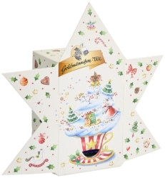 Goldmännchen Tee Adventskalender Stern