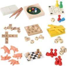 Mini-Spiele aus Holz