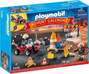 Playmobil Adventskalender 2018 Feuerwehreinsatz auf der Baustelle