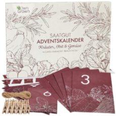 Samen Adventskalender 2020: Nachhaltiger Küche und Garten Adventskalender mit Kräuter, Obst, Gemüse Samen