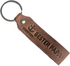 Schlüsselanhänger aus Leder mit Gravur