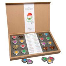 Nicht nur die Verpackung ist gut, auch die kleinen Herzdöschen sind einfach klasse und sind auch im nächsten Jahr zu nutzen.